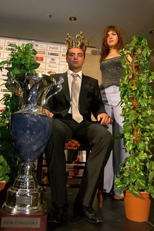 Slavnostní vyhlášení Krále cyklistiky 2006, 18.1. Praha - Hotel President - Král Prokop s princeznou Huříkovou