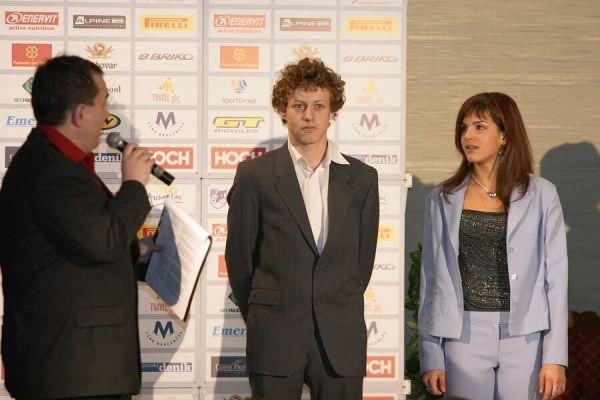 Slavnostní vyhlášení Krále cyklistiky 2006, 18.1. Praha - Hotel President - Tereza zachraňovala i kategorii silnice