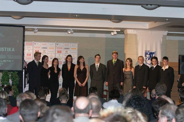Slavnostní vyhlášení Krále cyklistiky 2006, 18.1. Praha - Hotel President - zástupci sálovky