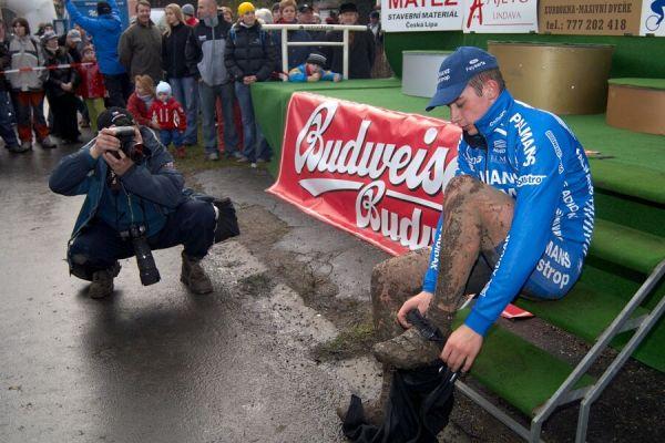 Radek Šimůnek a Roman Růžička - Mistrovství republiky v cyklokrosu 2007, Česká Lípa