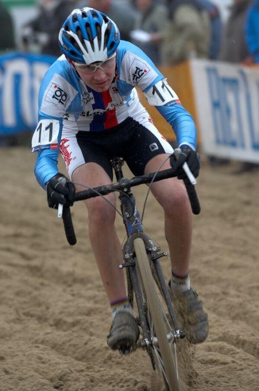 Lubomír Petrus - Světový pohár v cyklokrosu - junioři - Hofstade (BEL)