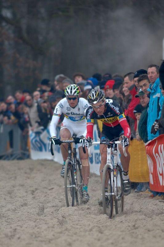 Albert Niels a Zdeněk Štybar - Světový pohár v cyklokrosu - U23 - Hofstade (BEL)