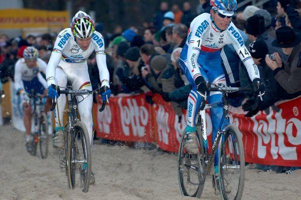 Petr Dlask a Erwin Vervecken - Světový pohár v cyklokrosu - Elite -Hofstade (BEL)