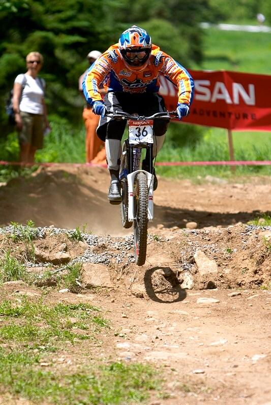 Nissan UCI MTB World Cup DH+4X #3, Mont St. Anne 24.6.'07 -  Kamil Tatarkovič