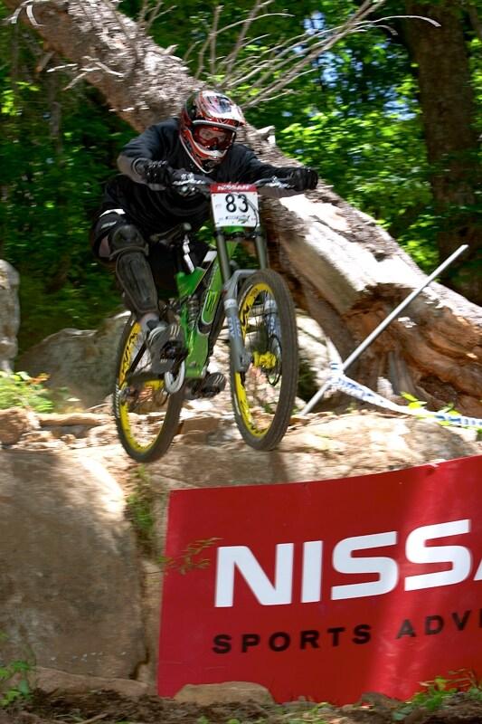 Nissan UCI MTB World Cup DH+4X #3, Mont St. Anne 24.6.'07 - největší drop
