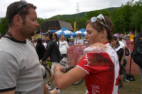 Nissan UCI MTB World Cup - Mont St. Anne, 23.6.'07 - šéf tratě Patrice s Premont