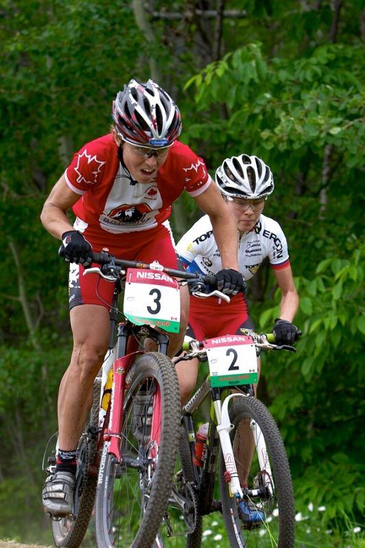 Nissan UCI MTB World Cup - Mont St. Anne, 23.6.'07 - Premont a Kalentieva
