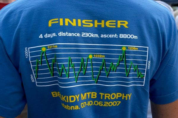 Beskidy MTB Trophy 2007 - 3. etapa 10.6. - tohle tričko si všichni opravdu zasloužili