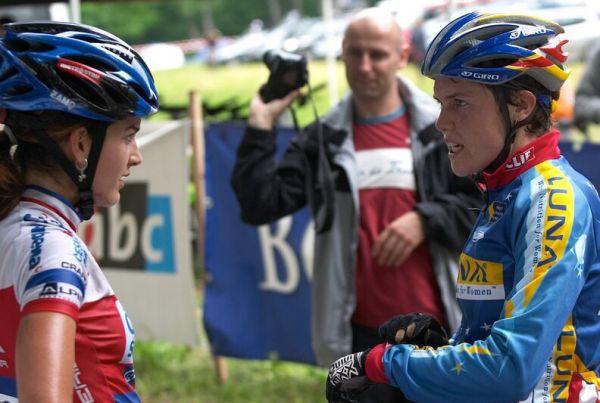 ČP XC 3. závod, Česká Kamenice 2.6.2007 - Tereza s Georgiou