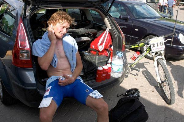 ME Cappadocia 2007 - závod mužů U23 14.7. - šťastný Jiří Friedl po závodě