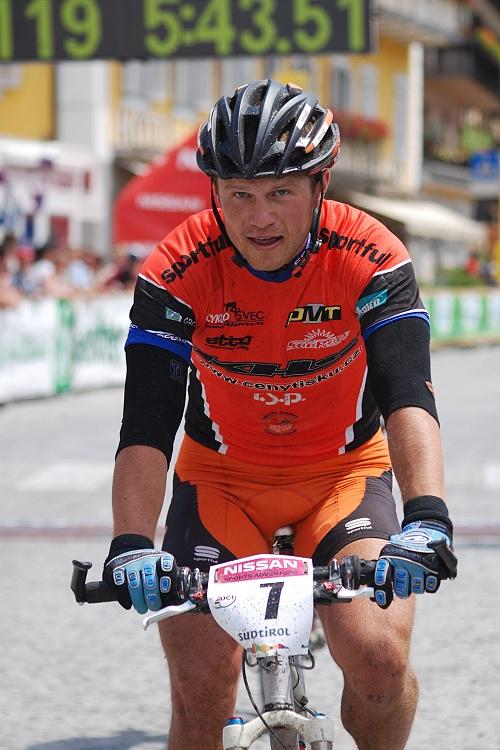 Dolomiti Superbike 07 - Ivan Rybařík v cíli