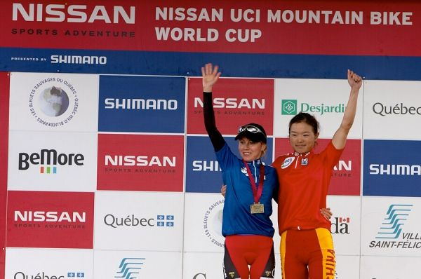 Nissan UCI MTB World Cup XC#5 - St. Félicien 1.7.'07 - Kalentieva a Chengyuan jako vedoucí SP