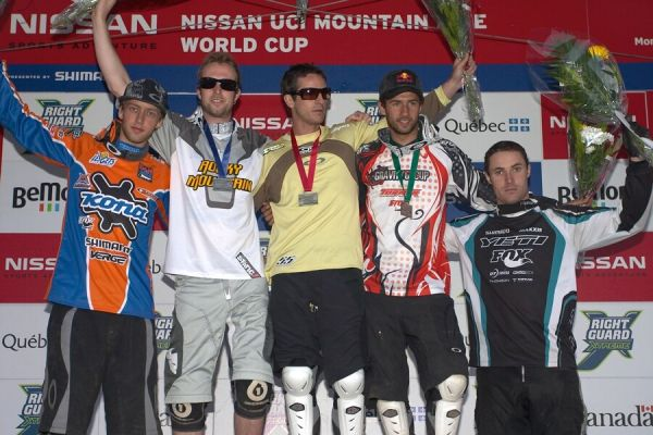 Nissan UCI MTB World Cup DH+4X #3, Mont St. Anne 24.6.'07 - 4X muži 1. Lopes, 2. Beaumont, 3. Polc