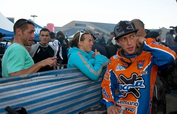 Nissan UCI MTB World Cup DH+4X #3, Mont St. Anne 24.6.'07 -Kamil Tatarkovič, Fabien Barel a Julien Absalon