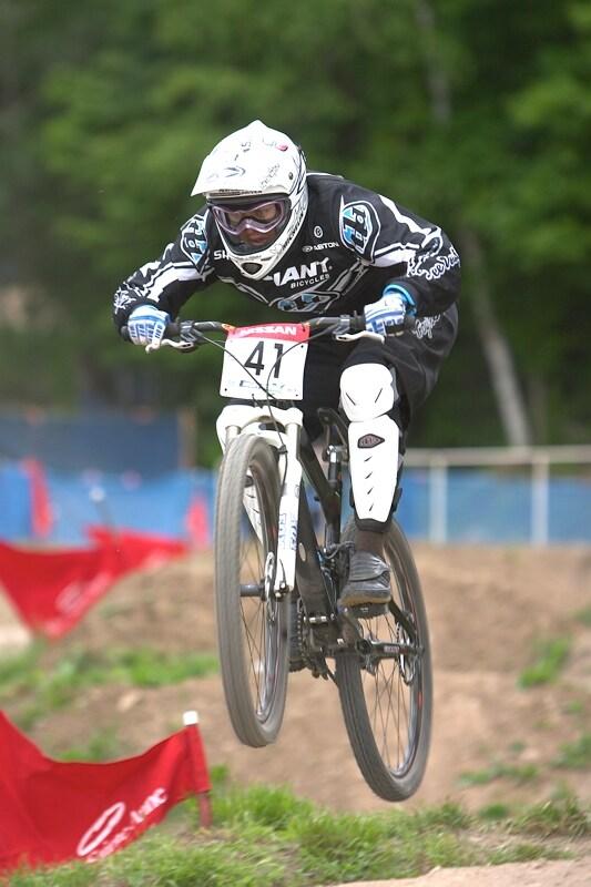Nissan UCI MTB World Cup DH+4X #3, Mont St. Anne 24.6.'07 - Tara Llanes