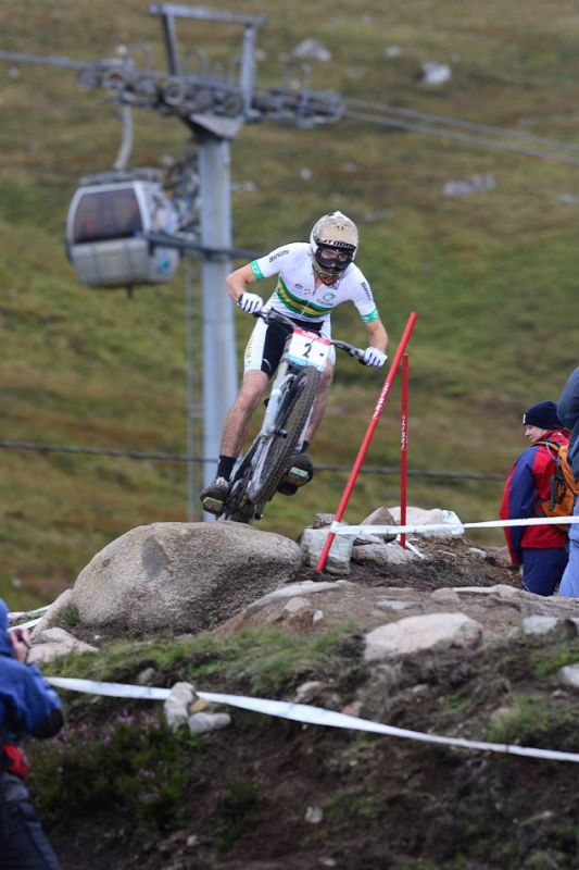 MS 2007 Downhill / Fort William Skotsko - Joel Bain - junioři