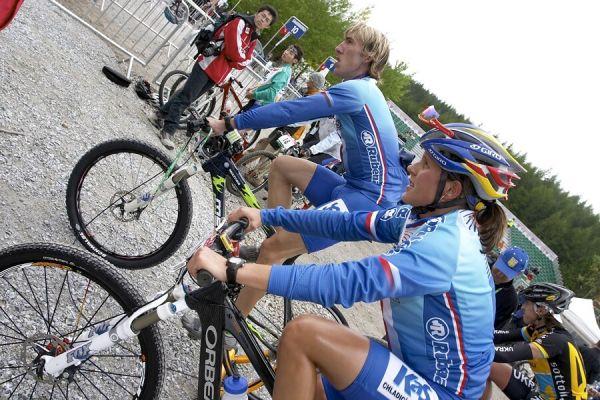 MS MTB 2007 - štafety, Katka Nash a Milan Spěšný