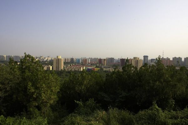 Peking - olympijský okruh MTB 365 dnů do startu - pěkně barevné paneláčky, že?