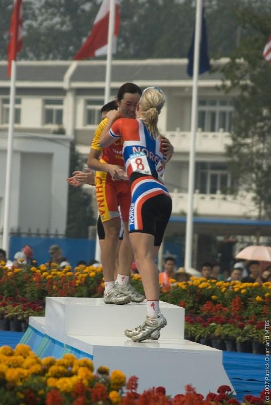 International Invitational MTB Competition - Peking, Čína 22.9. 2007 - stupně vítězů, foto: Patrick Dean
