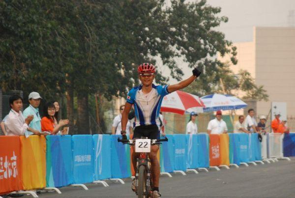 International Invitational MTB Competition - Peking, Kenji Takeya - překvapení závodu, Čína 22.9. 2007 foto: Patrick Dean