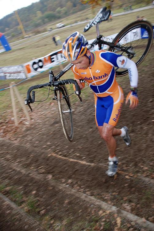 SP Cyklokros Tábor 2007 - Sven Nijs v posledním kole