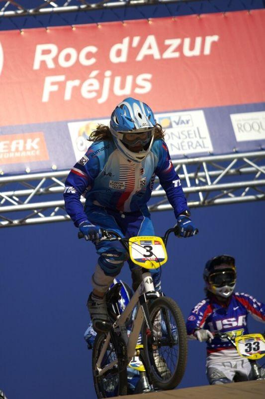 UCI BMX SuperX   13.-14.10. 2007 - Frejus, Francie - Jana Horáková