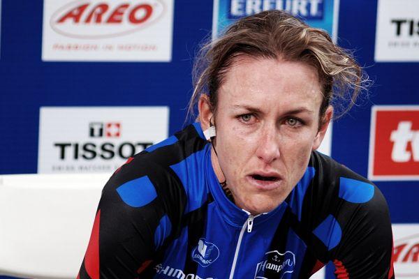 MS Road 07 - časovka žen - Kristine Armstrong moc radost neměla